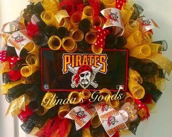Pittsburgh Pirates Wreath, Pittsburgh Wreath, Pirates Wreath