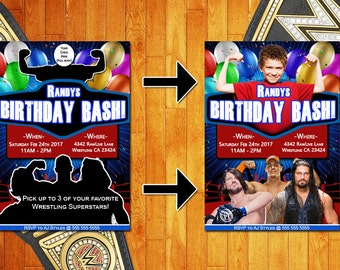 WWE Birthday Invitation, Digital, John Cena, Custom Invitation, Wrestling Invitation, Birthday Invitation, Birthday, Birthday Party