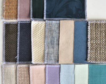 2 fabric swatches, 4x4 cm/ 1,6x1,6 inch, sends in 1 day, free shipping