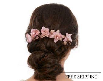 Flower Hair Piece - Wedding Hair piece - Bridal Hair piece - Bridal Flower Hair piece - Floral Hair piece