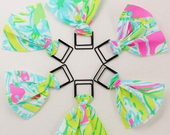 Lilly Pulitzer Coconut Jungle Fabric Paper Clip