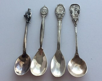 Set of 4 Sterling Silver  Spoons
