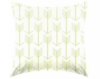 green pillow - kiwi green pillow - lime green pillow - pillow cover only - cushion cover -ZIPPER CLOSURE