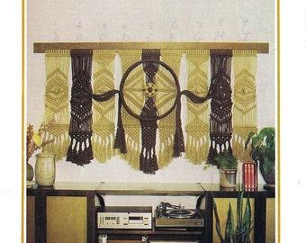 Vintage Macrame Wall Hanging PDF Pattern.Macrame Wall Hanging PDF Pattern Book.vintage macrame.vintage pattern.craft pattern.fiber art