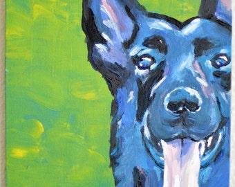 Custom Pet Portrait, Pop Art, Dog, Cat, Acrylic Painting, Animal Art, Canvas