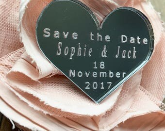 Save The Date, Wedding Favour, Party Decoration, Table Decorations, Wedding Decoration, Silver Wedding Heart, Engagement Heart, Silver Heart
