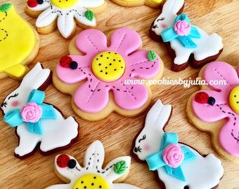 Easter/easter bunny/easter basket/easter decorations/Easter eggs/bunny/chocolate/Easter cookies/custom cookies/sugar cookies/flowers/