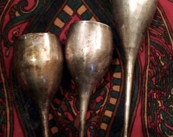 Vintage Silver Goblets