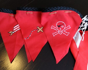 Pirate pennant wreaths