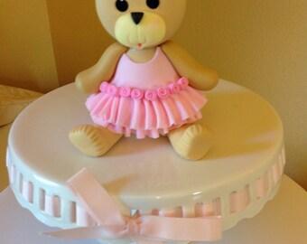 Tutu bear cake topper. First birthday cake topper. Tutu birthday cake topper. Teddy bear cake topper.
