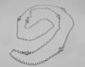 Little Hearts Charm Long Necklace