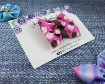 Polka Dot Bow Tie Hair Clip - Set of 2