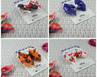 AFL Supporter Pinwheel Hair Bow Clip - All Teams