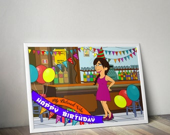 Birthday Gift For Girlfriend, Birthday Gift For Her,  Birthday Gift Ideas, Custom Portrait, Cartoon Portrait, best friend birthday gift