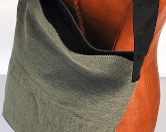 Canvas shoulder bag  green, messenger bag  school back, shoulder bag ,cross body back, canvas shopping bag