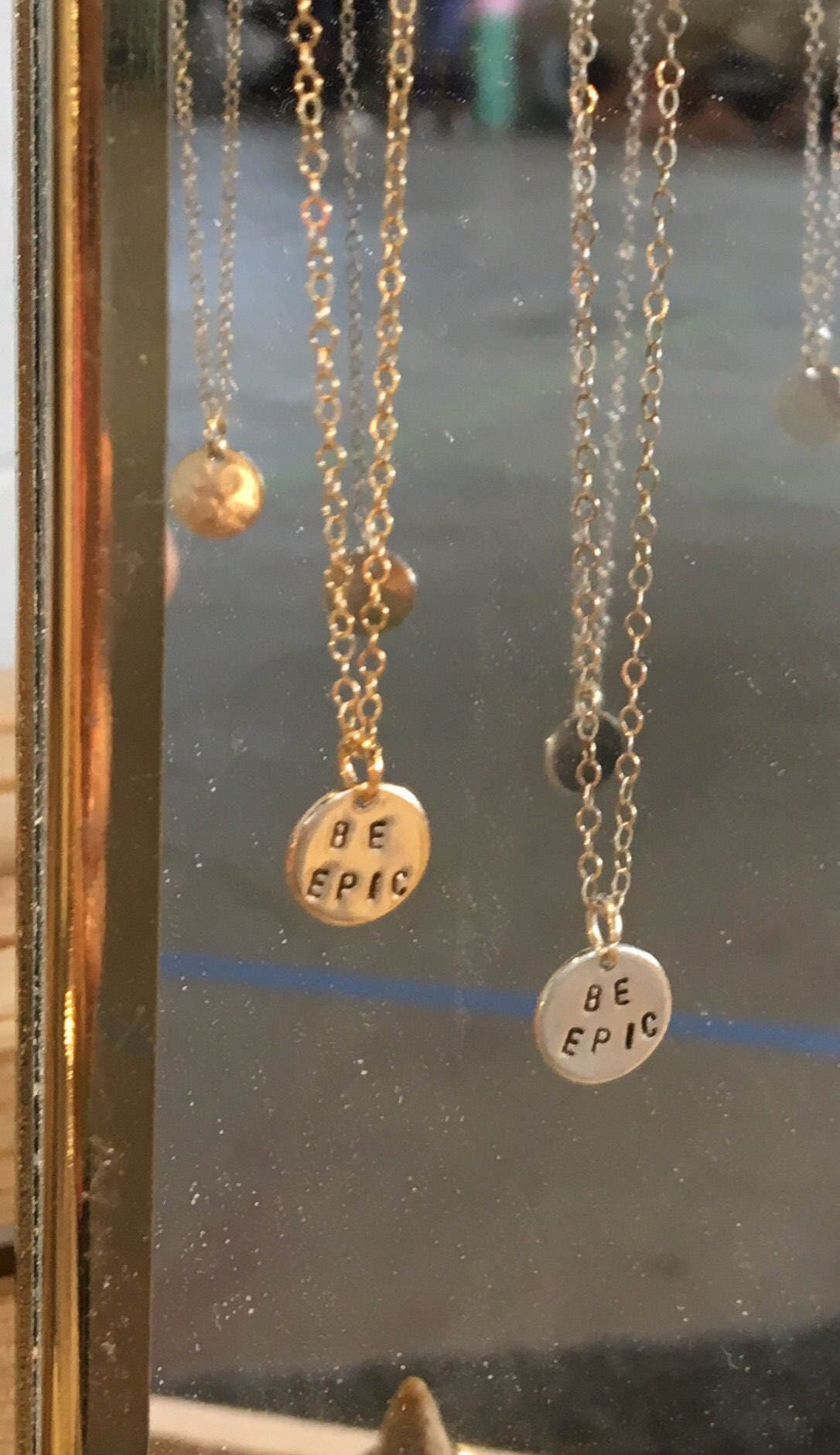 14kf BE EPIC Charm Necklace