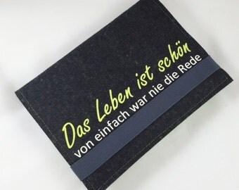 Notebook DIN A5 from wool felt