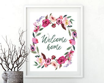 Nerdy image pertaining to welcome home printable