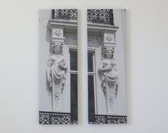 Original Art Canvas - Sculptural Relief Photo Pair