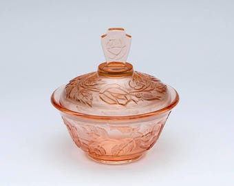 Vintage Art Deco dish, vintage glass dish, Art deco glass, 1950's glass dish, vintage glass, vintage glassware, glass bowl,jewellery storage