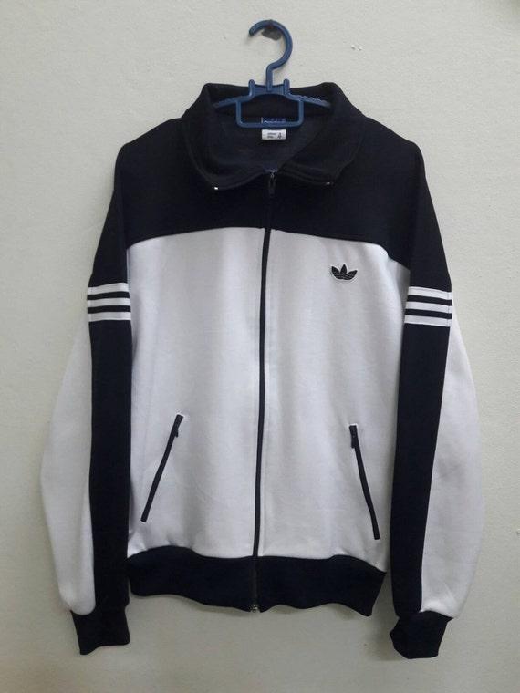 Vintage Adidas trefoil Black white  track sweatshirt sweater Japan