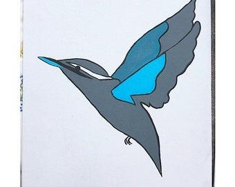 Acrylic Kingfisher Painting