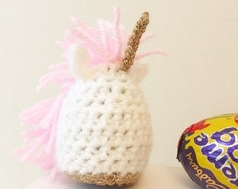 Unicorn Creme Egg Cosy, Egg Cover, Magical, Crochet, Cadburys