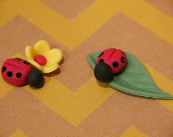 Ladybug Fondant Cake & Cupcake Toppers