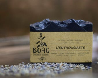 The cheerful / natural, organic, artisan SOAP, woman, man, biodegradable, eco-friendly, oily skin, acneic skin, Christmas gift