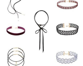 Choker collar 7 set