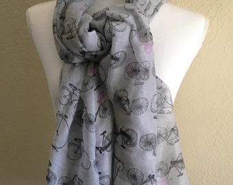 Vintage Bicycle Print Scarf