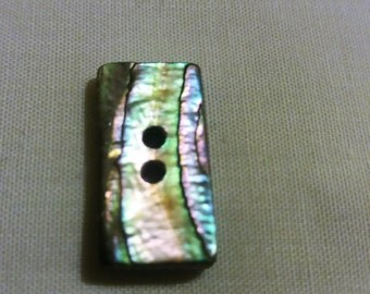 Paua Shell Buttons. Shell Buttons. Rectangular Paua shell Buttons