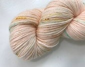 Pearl Button Hand Dyed 4ply/fingering weight speckled soft merino nylon sock yarn