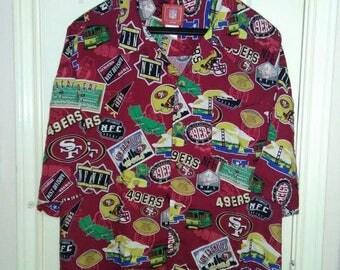 San Francisco 49ers Hawaiian shirt sz XXL