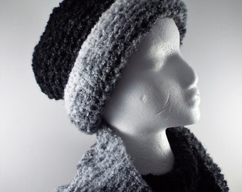 Winter Scarf and Hat Set, Women Hat and Scarf Set, Knit Hat and Scarf, Knit Snood and Hat, Chunky Knit Set, Loop Scarf