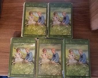 Vintage books, vintage children's books, antique books, book decor, classic books, Bobbsey Twins, 1920s