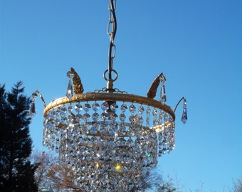 Pretty Vintage  unusual Swarovski Chandelier (P3321)