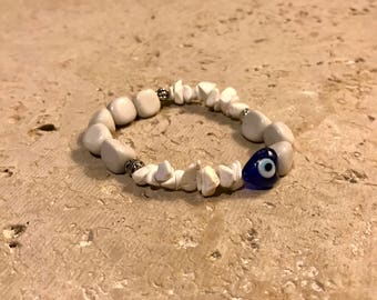Black Spotted Feldspar x Howlite Healing Energy Bracelet