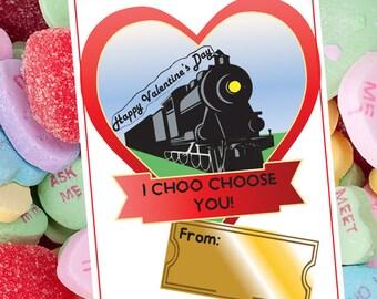 Train, Kids Valentine Card, Valentine's Day Card, Kid Valentine, Kid, Kid Valentine Class,  Valentine's Day Card, VALENTINE day, kid, Train