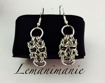 Chainmail earrings square feet/soft chainmail earrings