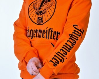 Jagermeister Sweatshirt Hoodie logo embroidered,