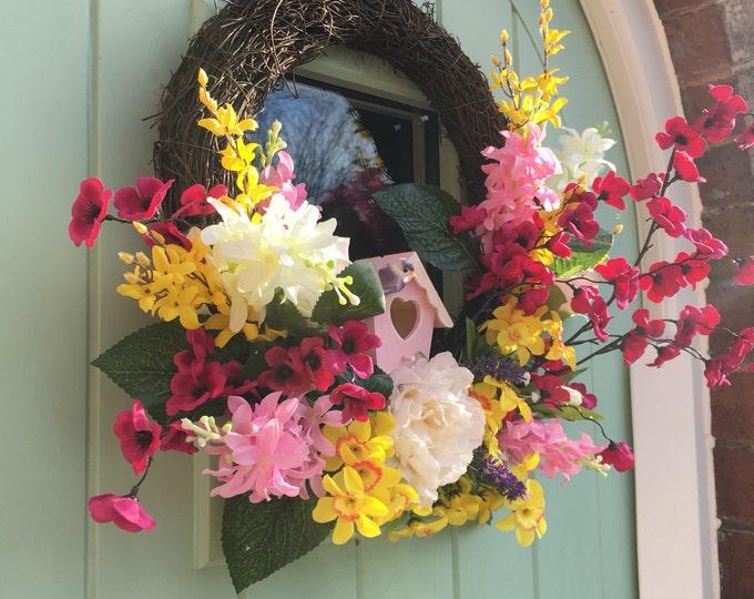 Beautiful Spring Easter Door Wreath