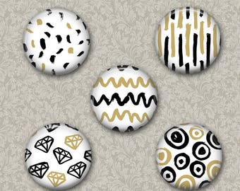 Patterns  Magnets Set of 5