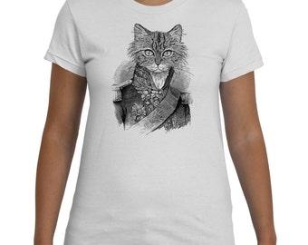 Captain Cat Black White TShirt Women