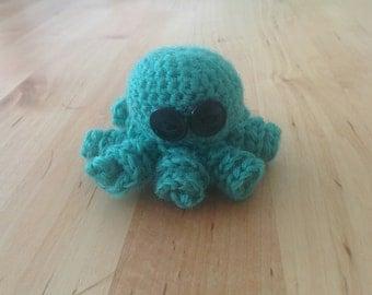 Baby Green Amigurumi Octopus