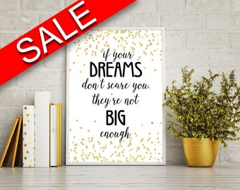 Wall Art Dreams Digital Print Dreams Poster Art Dreams Wall Art Print Dreams Motivation Art Dreams Motivation Print Dreams Wall Decor Dreams