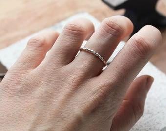 Handmade Sterling Silver Bobble Ring