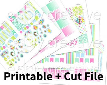 Sale - 25% Off! Easter Theme - Weekly Sticker Kit Printable for Erin Condren Horizontal - HWK-005 - INSTANT DOWNLOAD