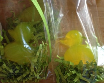 Rubber Duck Baby Shower Favor-Duck Soaps/set of 12 -yellow