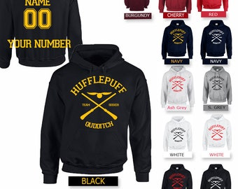 Custom Back - Hufflepuff Quidditch Harry Potter Unisex Hoodie - Fan  hoodie harry potter TV and books Series Gift present